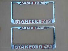 Stanford Lincoln Mercury, Menlo Park - California License Plate Frame Pair- XLNT