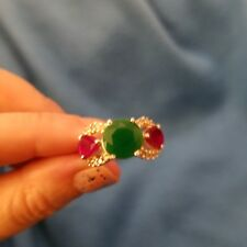 Ruby and Emerald Ring Size 7