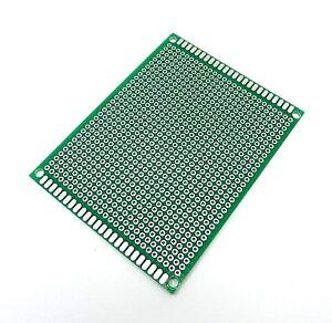 70mm x 90mm Universal Circuit Board Fiber Glass 2.54mm Soldering Stripboard PCB