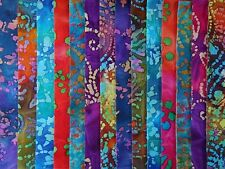 14 Jelly Roll bandes 100% Coton Patchwork Tissu Batiks