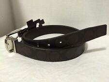 COACH 66733 Dress Weston Signature C Reversible Leather Belt, Cut to Size, New