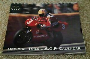 Vintage Official USGP Calendar 1994 Grand Prix Motorcycle Rainey Schwantz Doohan