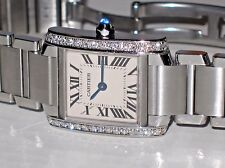 Womens Cartier Tank Francaise Diamond Display Model