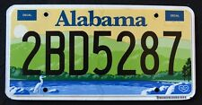 "ALABAMA "" ENVIRONMENT - WILDLIFE HERON "" HEART OF DIXIE AL Graphic License Plate"