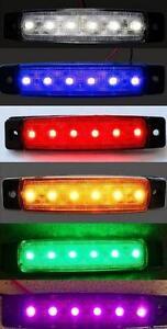 6 SMD LED Side Marker Lights 24V 12V Truck Trailer Van for MAN Scania DAF Volvo