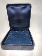 "Tiffany&Co. Black Necklace Earrings Bracelet Box Presentation 3.75""x3.25""x1.5"""