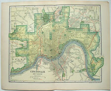 Cincinnati, Ohio - Original 1907 City Map by Dodd Mead & Company