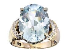 Ring Aquamarin Diamanten 585er Gold Retro ca. 1940