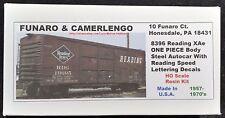 Funaro F&C 8396 READING Autocar RDG XAe Steel SPEED Lettering 1957-1970s 1-PIECE