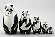 Panda Matryoshka Russian Nesting Doll Babushka Matrioska Matrioshka 5 Pc