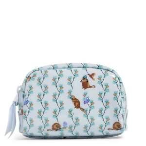 VERA BRADLEY New Merry Mischief Dome Cosmetic Bag Nature Winter Print