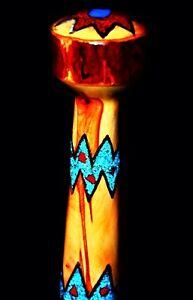 "New Mexico Handmade ""Jasper Turq"" Cane Inlaid Turquoise,Jasper,Silver,Brass,Copp"