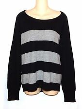 961d79fa01 Apt.9 Womens XL Black   Gray Striped Soft 100% Cashmere Sweater NEW  100