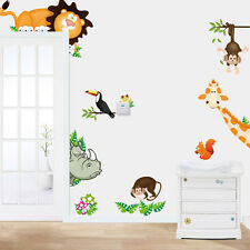 Jungle Animal Sticker Kid Baby Nursery Child Home Decor Mural Wall Sticker Decal