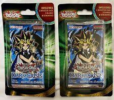 Yugioh! 2 Sealed DARK CRISIS Blister Booster Packs BONUS Cards Box Lot 100% NEW