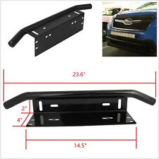 "23"" Bull Bar Front Bumper License Plate Mount Bracket Light Holder For Jeep Ford"
