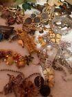Mystery Vintage Jewelry Box Necklace Bracelet Earrings & Brooches PLEASE READ...