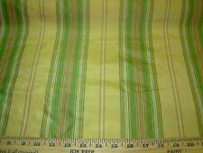 ~BTY~STRIPES~100% SILK ~ BEAUTIFUL DRAPERY UPHOLSTERY FABRIC~ FABRIC FOR LESS~