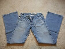 Hollister Company Womens Jeans Size 5 Slim Fit Ultra Low Rise Flare Cut