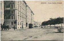 Primi '900 Genova Corso Andrea Podestà Vecchio Tram Carrozze FP B/N ANIM
