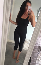BNWT Reebok Gym Fitness Catsuit Womens Midnight Black All in One Yoga M Medium