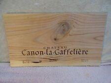 2014  CHATEAU CANON LA GAFFELIERE WOOD WINE PANEL END