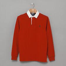 Ralph Lauren Polo Mens Sz M Long Sleeve Orange Shirt Custom Fit 100% Cotton NWT