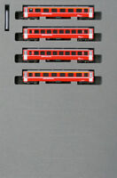 Kato 10-1414 Swiss Alpine Red Passenger Car EW-I 4 Cars Add-on Set (N scale)