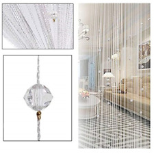 Eve Split Decorative Door String Curtain Beads Wall Panel For wedding (White)
