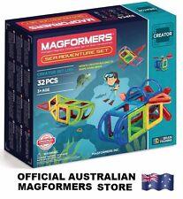 Genuine MAGFORMERS Sea Adventure Set 32 pcs - 3D Magnetic construction building