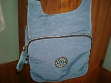 KIPLING Crossbody Organizer Bag Flap with Two Zip Around Compartments Blue
