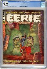 Eerie  #6  CGC  9.2  NM-  Magazine Off wht-wht pgs 11/66  John Severin frontispi