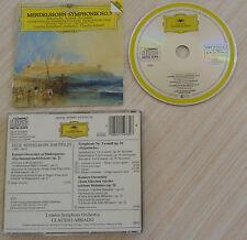 RARE CD FELIX MENDELSSOHN BARTHOLDY LONDON SYMPHONY CLAUDIO ABBADO 1985