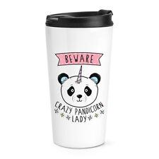 Beware Crazy Pandicorn Lady Travel Mug Cup Panda Unicorn Funny Animal Thermal