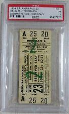 RARE Aug 23 1959 Packers Vs. 49ers Lombardi 1st Win -HEAD COACH- Full Ticket PSA