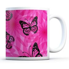 Purple Print Butterflie - Drinks Mug Cup Kitchen Birthday Office Fun Gift #15604
