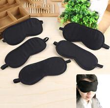 Black Sleep Eye Mask Filled Sunshade Travel Sleep Relaxation Aid Blinds Eyes DYL