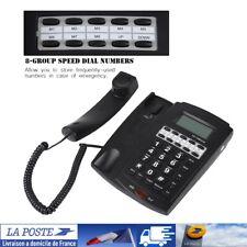 Téléphone avec numéro abrégé à 8 groupes with Speakerphone LCD Display