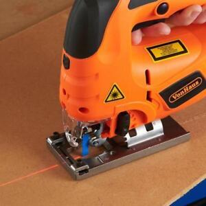 Orange Electric Jigsaw Cutter Multi Purpose Metal Plastic Wood Cutting Tool 800W
