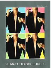 Publicité Advertising 1998 Parfum Jean Louis Scherrer