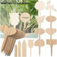 Plant Markers Bonsai Ornament Seeding Tags Garden Wooden Labels Bamboo Crafts