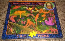 NEW SEALED - CROMADEPTH 3D JIGSAW PUZZLE RAINFOREST 500 PIECES BY BLUE OPAL