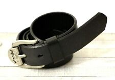 WRANGLER HERO BLACK GENUINE LEATHER LOGO BUCKLE CASUAL MEN'S BELT 34/85 (M46