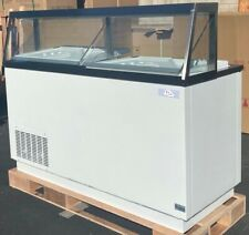 "SELECT 68"" SLANT GLASS ICE CREAM DIPPING CABINET 12 FACING TEMP 7ºF TO -10ºF"