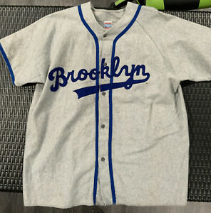 Brooklyn  Dodgers flannel jersey XL EMPIRE SPORTING GOODS