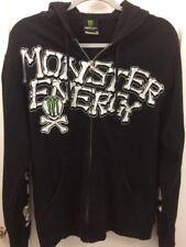 Small Monster Energy Black Hoodie Skeleton Bones