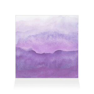 Home Decor Wall Sign Purple and White Watercolor Style H Art Picture Frame