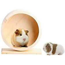 Wooden Roller Hamster Running Exercise Wheel Mouse Hedgehog Sports Pet Toy