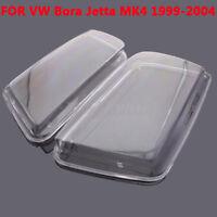 2x Car Plastic Headlight Cover Replacement For VW Bora Jetta MK4 1998-2004