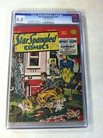 STAR SPANGLED COMICS #24 CGC 6.5 1943 SIMON KIRBY SIEGEL ROBOTMAN NEWSBOY LEGION